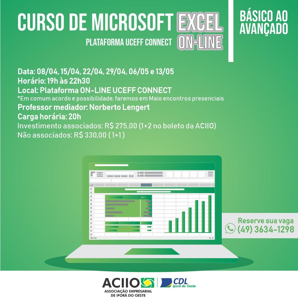 CURSO DE EXCEL - ON-LINE